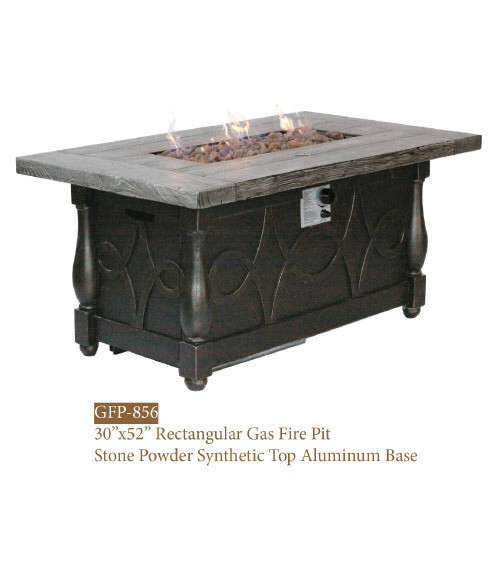 GFP Collection Rect. Stone Powder Synthetic Fire Pit