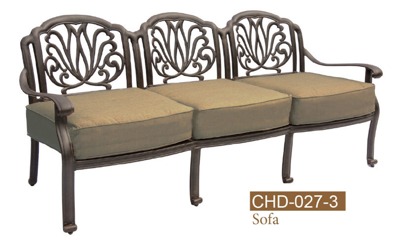 Lilian Collection Fully Welded Deep Seating 3 Seat Sofa