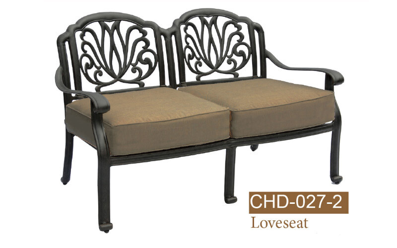 Lilian Collection Fully Welded Deep Seating Love Seat