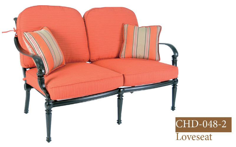 Messina Collection Fully Welded Deep Seating Loveseat