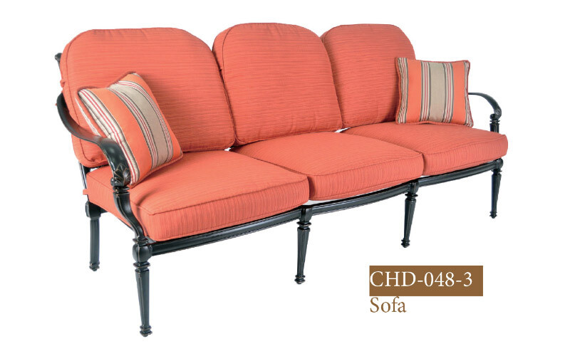 Messina Collection Fully Welded Deep Seating Sofa