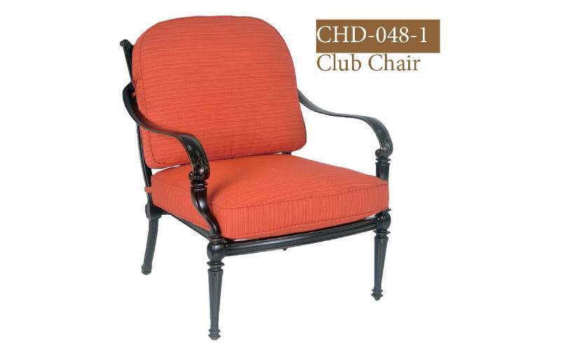 Messina Collection Fully Welded Deep Seating Club Chair