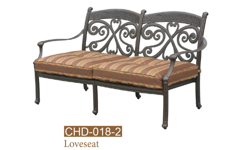 Monarch Collection Fully Welded Deep Seating Love Seat