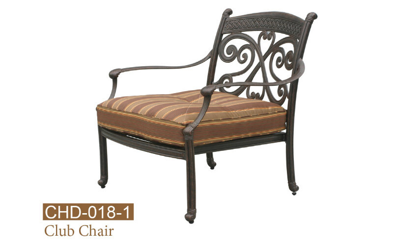 Monarch Collection Fully Welded Deep Seating Club Chair