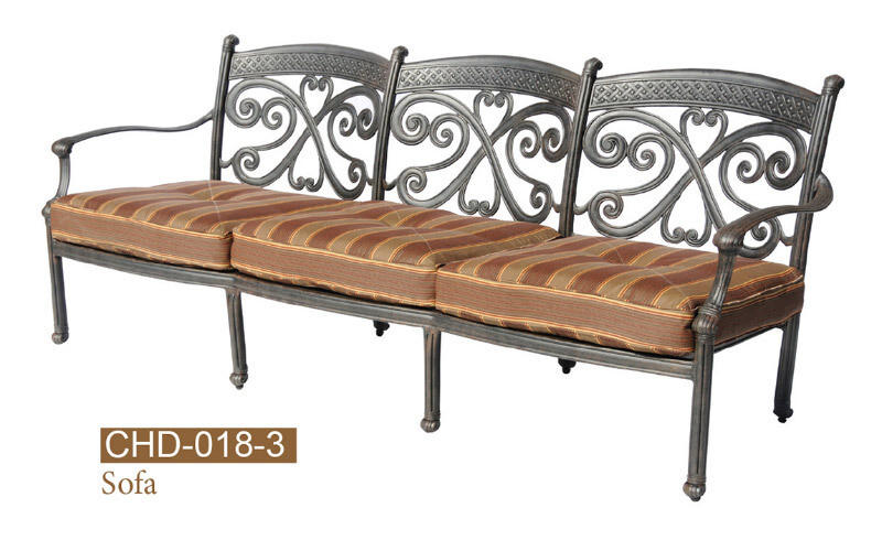 Monarch Collection Fully Welded Deep Seating Sofa