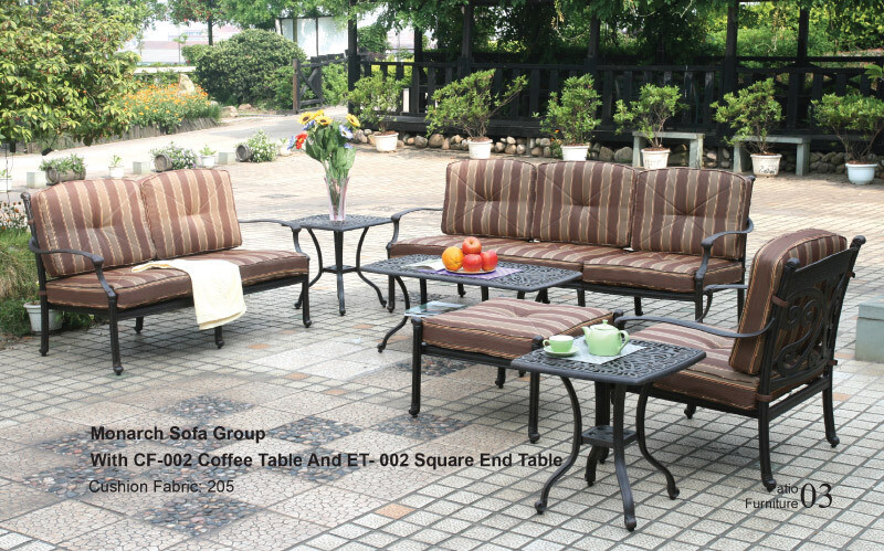 Monarch Table Group With CF-002 Coffee Table And ET-002 Square End Table