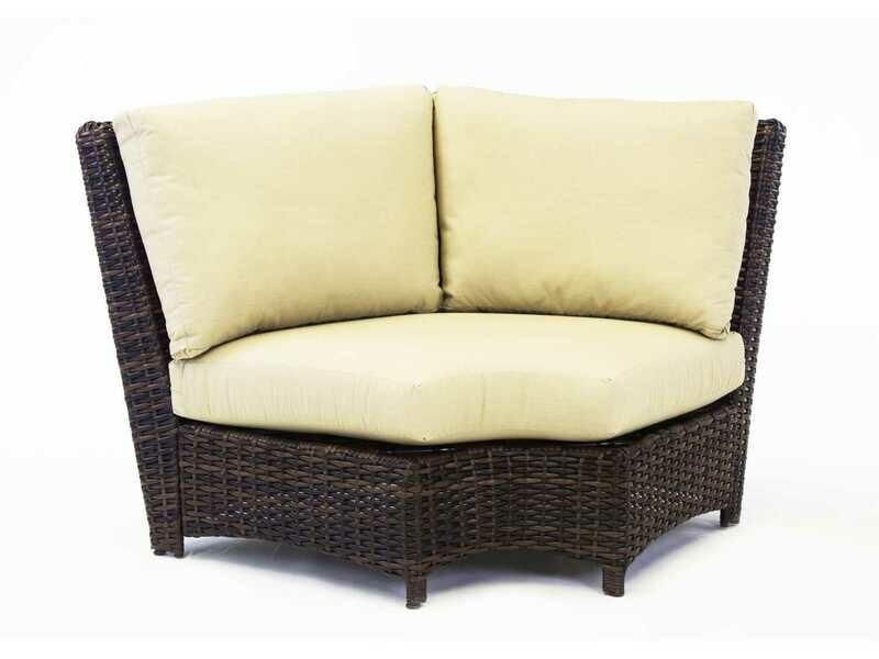 South Sea Rattan Saint Tropez Wicker Wedge Corner Lounge Chair