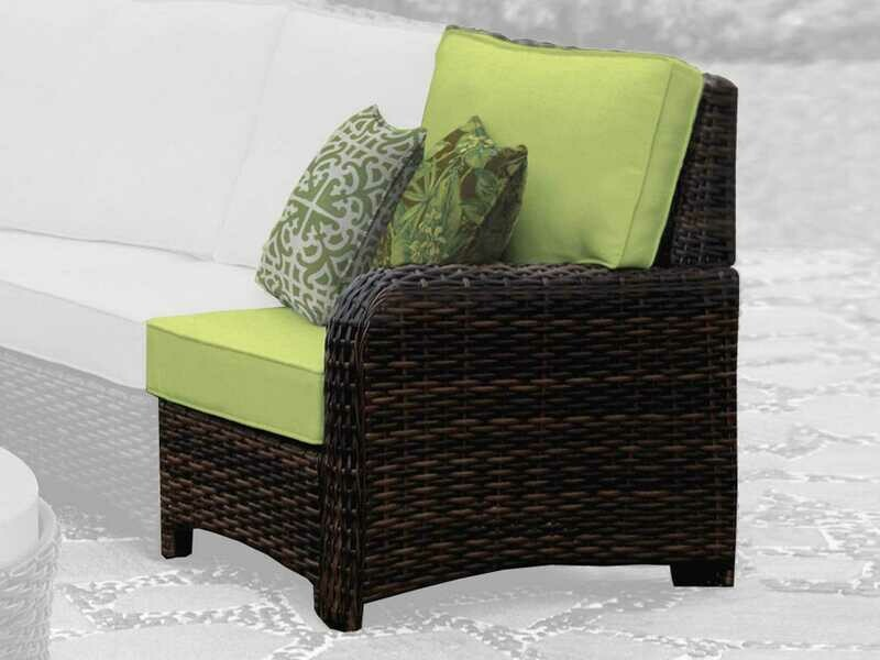 South Sea Rattan St Tropez Wicker Right Arm Lounge Chair