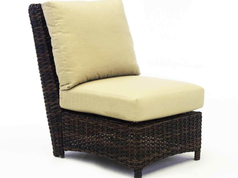 South Sea Rattan St Tropez Wicker Modular Lounge Chair