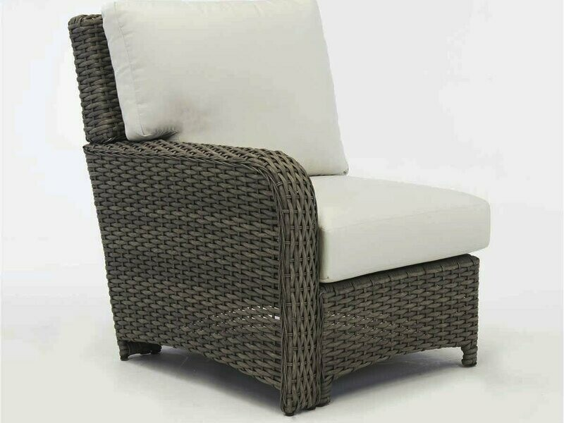 South Sea Rattan St Tropez Wicker Left Arm Lounge Chair