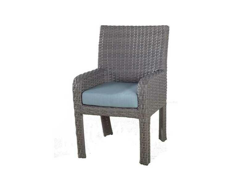 South Sea Rattan Saint Tropez Wicker Dining Arm Chair