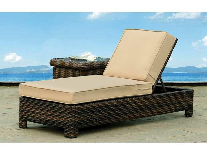 South Sea Rattan Saint Tropez Wicker Chaise Lounge