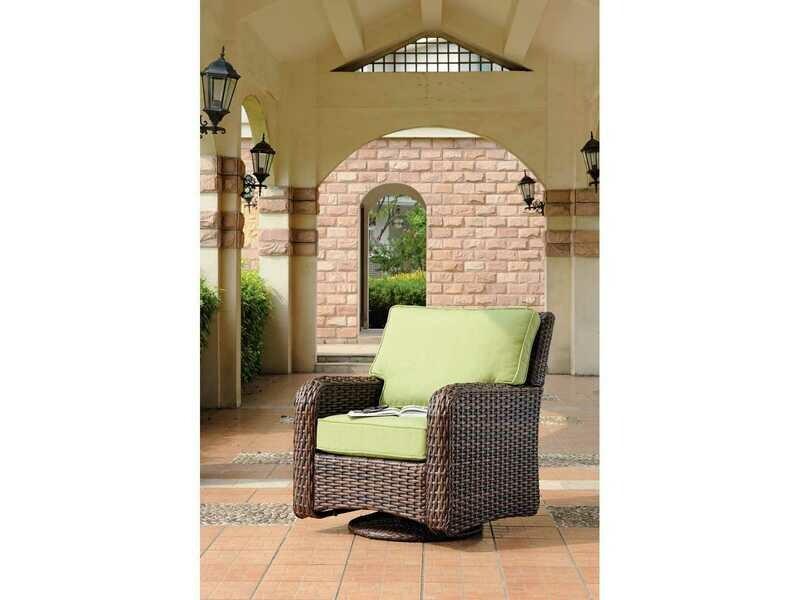 South Sea Rattan St Tropez Wicker Swivel Glider Lounge Chair