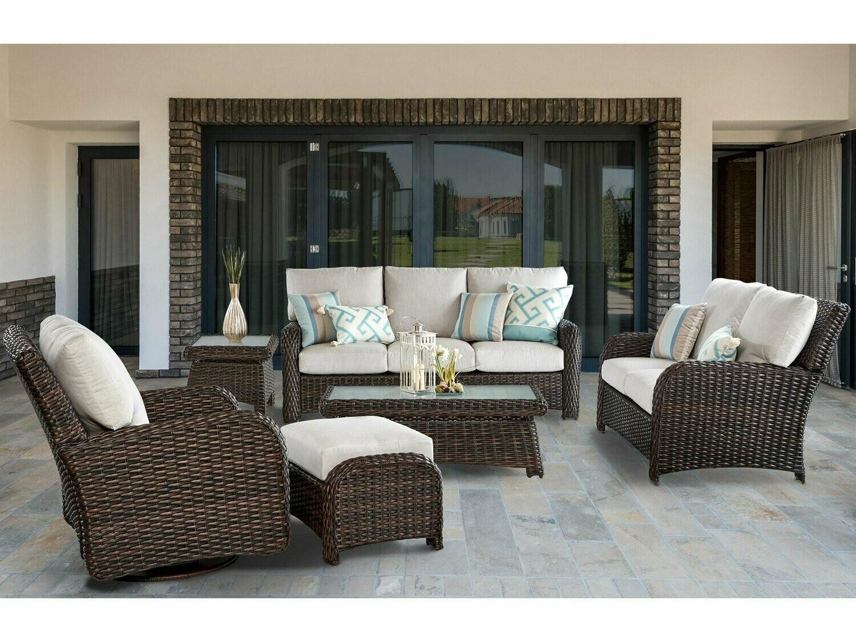South Sea Rattan Saint Tropez Wicker Lounge Set
