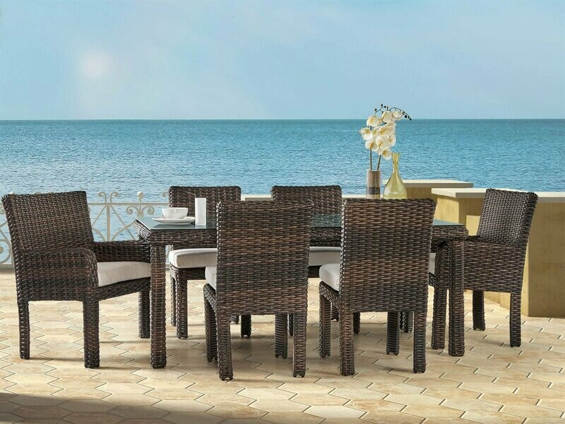 South Sea Rattan St Tropez Wicker Dining Set