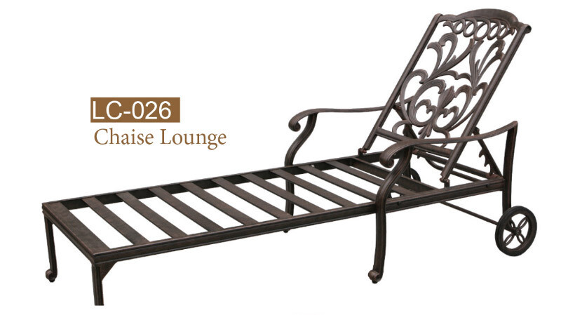 Valencia Collection Fully Welded Chaise Lounge Chair