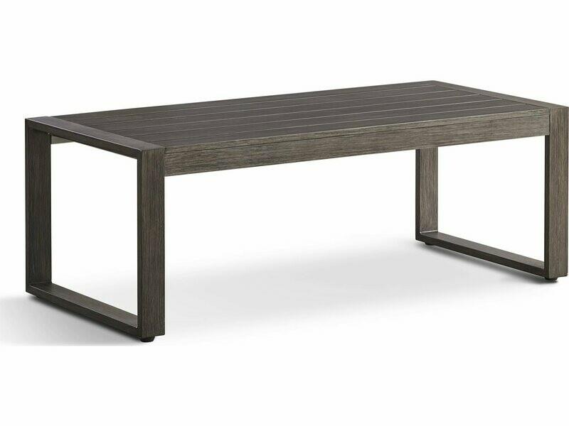 South Sea Rattan Ryan Aluminum 51''W x 28''D Rectangular Coffee Table