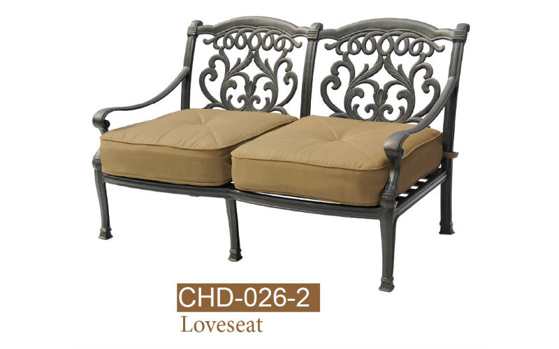 Valencia Collection Fully Welded Deep Seating Loveseat