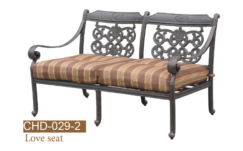 Florence Collection Fully Welded Deep Seating Love Seat
