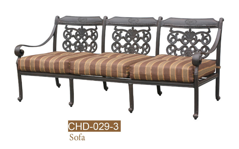 Florence Collection Fully Welded Deep Seating Sofa