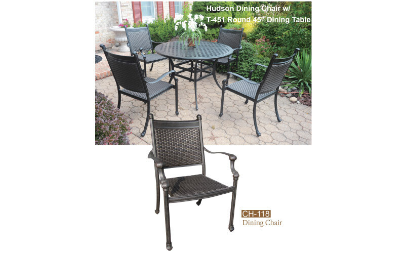 Hudson Collection Fully Welded Dining Chair