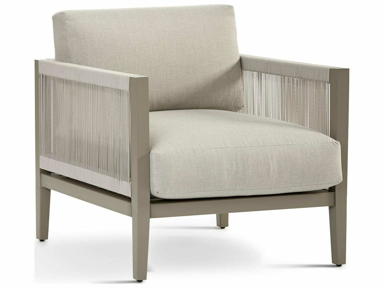 South Sea Rattan Nicole Aluminum Greystone Lounge Chair
