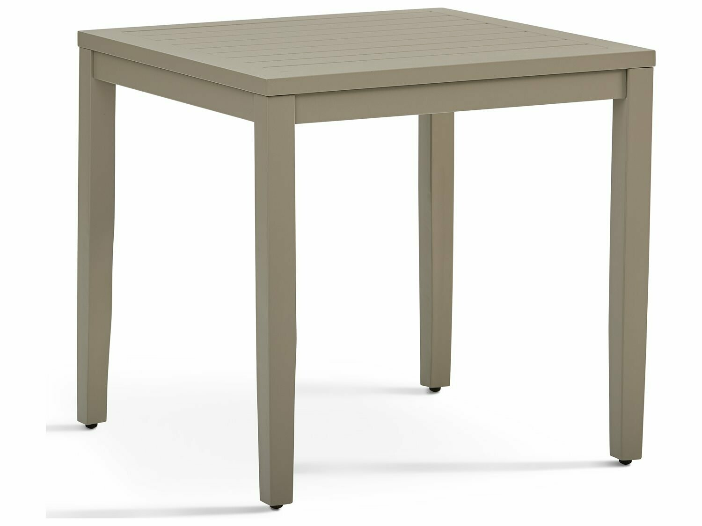 South Sea Rattan Nicole Aluminum Greystone 25'' Wide Square End Table