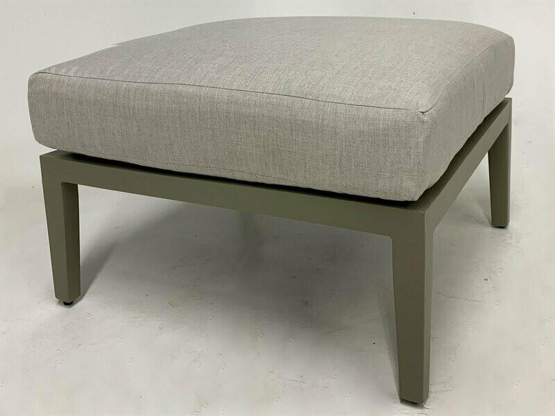 South Sea Rattan Nicole Greystone Aluminum Cushion Ottoman