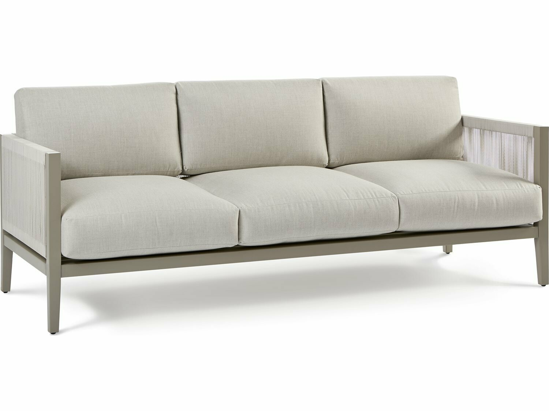 South Sea Rattan Nicole Aluminum Greystone Sofa