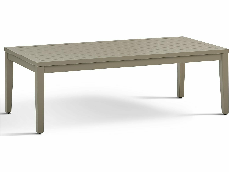 South Sea Rattan Nicole Aluminum Greystone 52''W x 25''D Rectangular Coffee Table