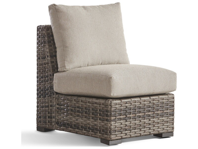 South Sea Rattan New Java Wicker Sandstone Modular Lounge Chair