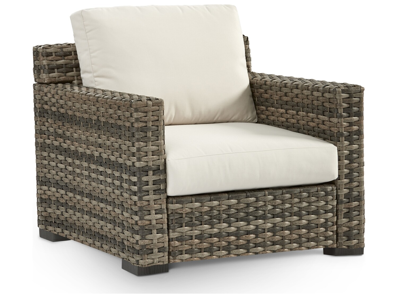 South Sea Rattan New Java Wicker Sandstone Lounge Chair