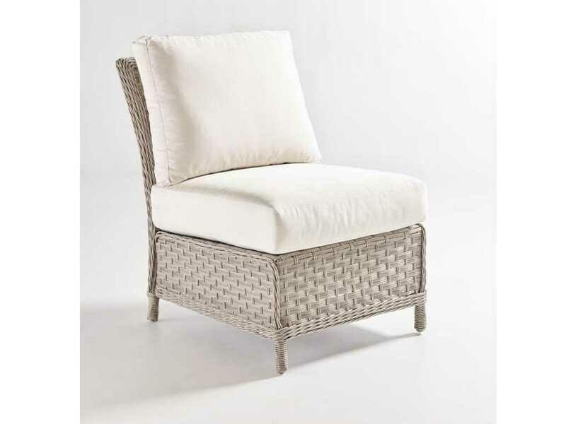 South Sea Rattan Mayfair Wicker Pebble Modular Lounge Chair