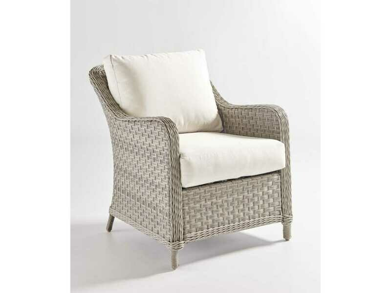 South Sea Rattan Mayfair Wicker Pebble Lounge Chair
