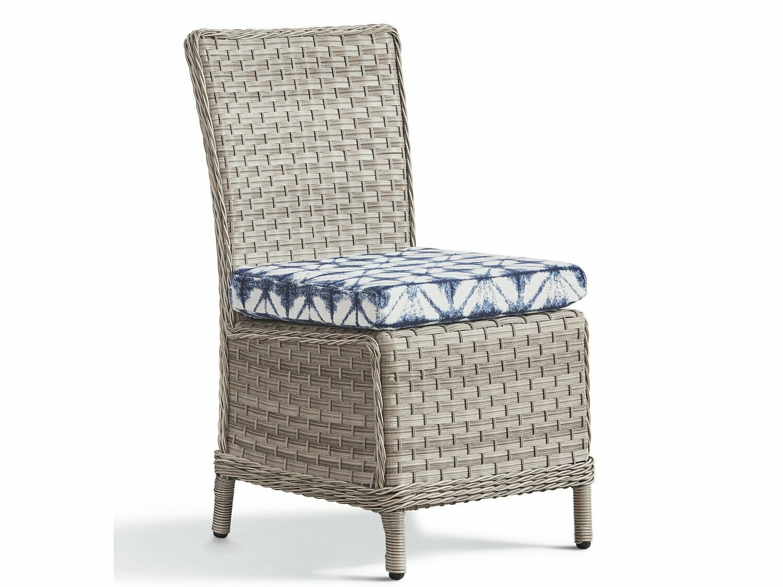 South Sea Rattan Mayfair Wicker Pebble Dining Side Chair