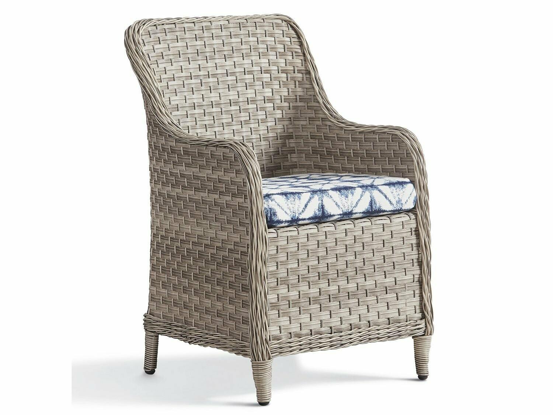 South Sea Rattan Mayfair Wicker Pebble Dining Arm Chair