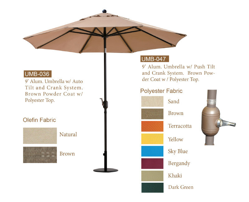 9' Aluminum Umbrella