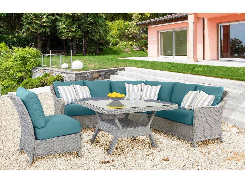 South Sea Rattan Mayfair Wicker Pebble Lounge Set