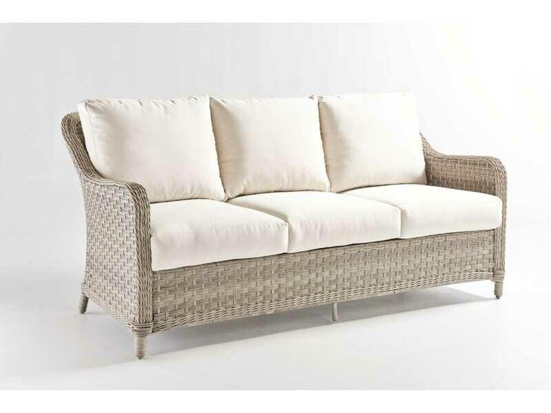 South Sea Rattan Mayfair Wicker Pebble Sofa