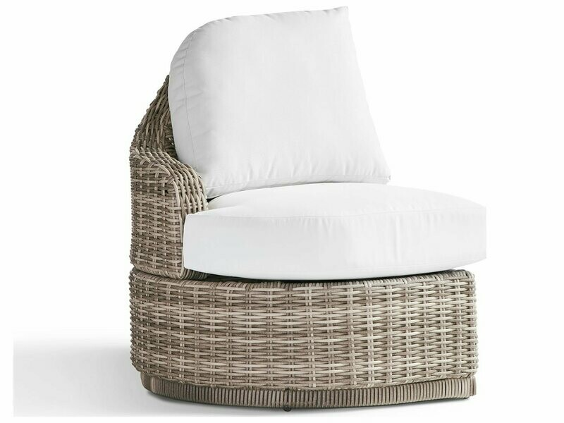 South Sea Rattan South Sea Rattan Luna Cove Wicker Left Side Facing Lounge Chair - Fitted