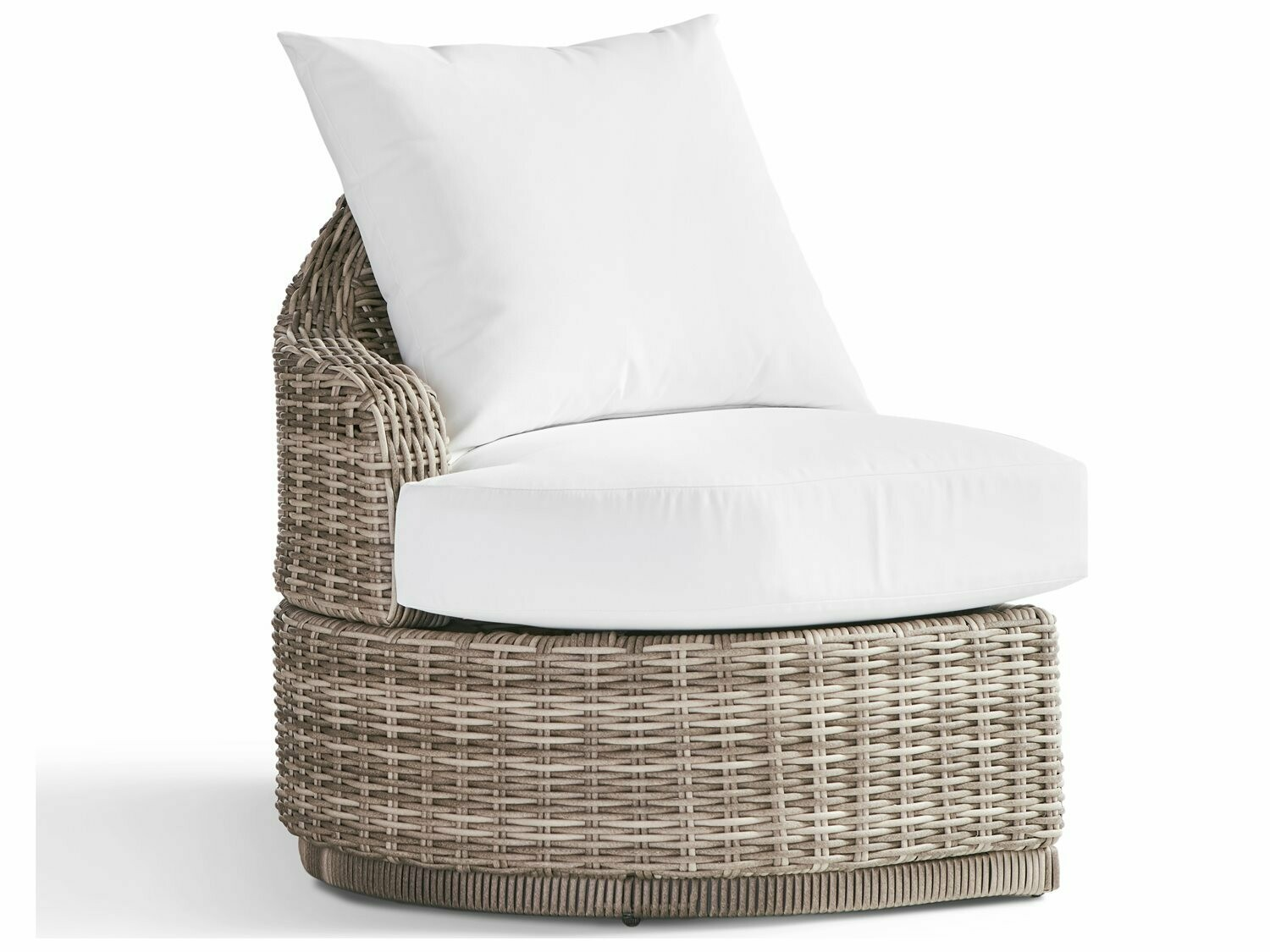 South Sea Rattan Luna Cove Wicker Left Side Facing Lounge Chair in Scatter Back