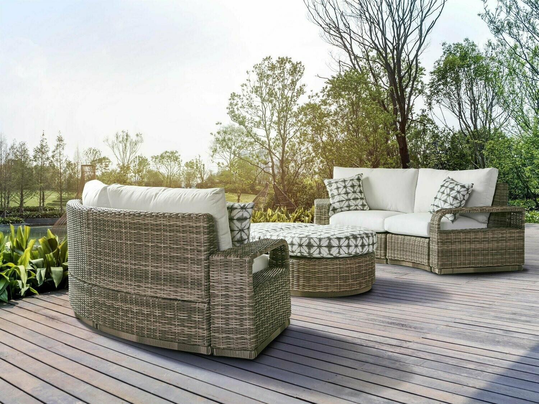 South Sea Rattan Luna Cove Wicker Sectional Lounge Set