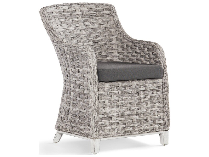 South Sea Rattan Grand Isle Wicker Dining Arm Chair
