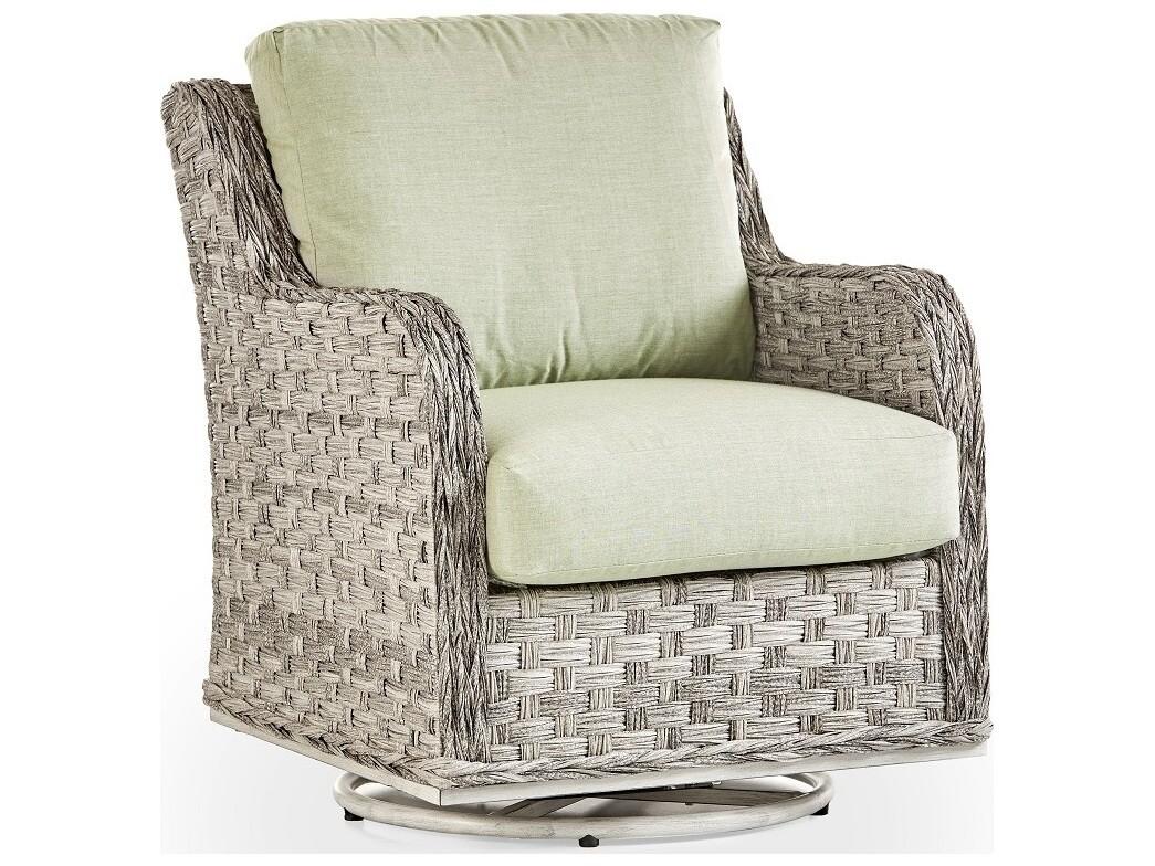 South Sea Rattan Grand Isle Wicker Swivel Glider Lounge Chair