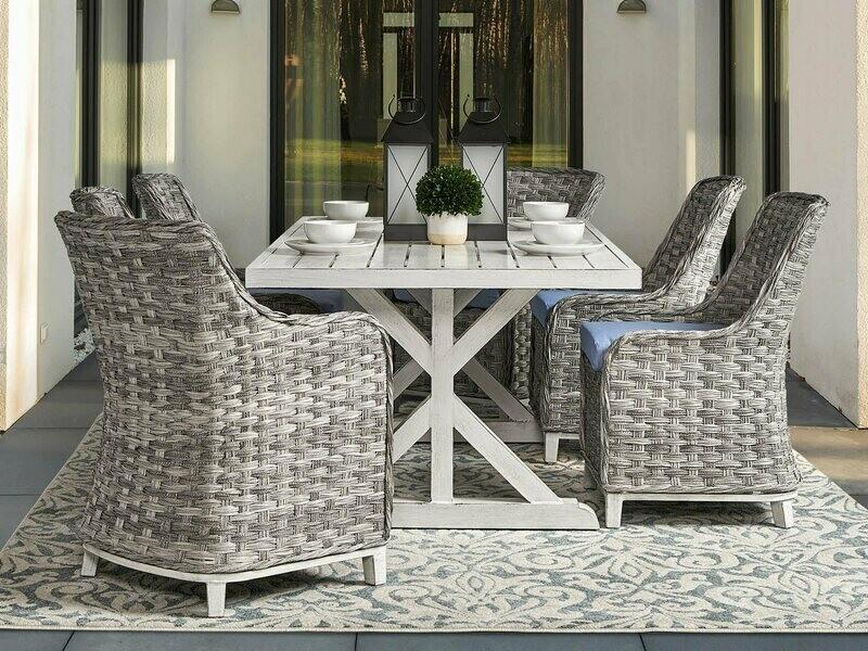 South Sea Rattan Grand Isle Wicker Dining Set
