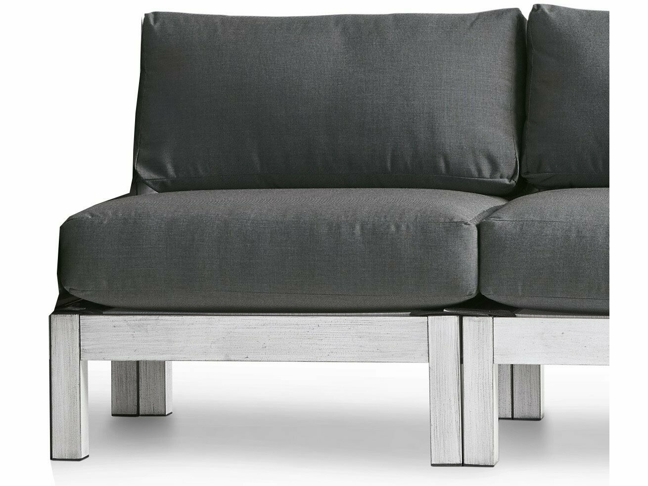 South Sea Rattan Farlowe Aluminum Brushed White Modular Lounge Chair