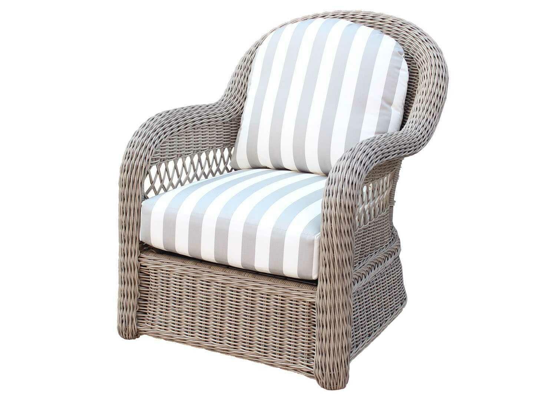 South Sea Rattan Arcadia Wicker Driftwood Lounge Chair