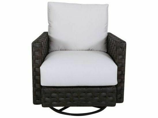 South Sea Rattan Cambridge Aluminum Wicker Swivel Glider Lounge Chair