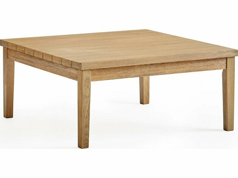 South Sea Rattan Candace Wood 36'' Wide Square Coffee Table