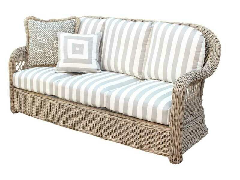 South Sea Rattan Arcadia Wicker Driftwood Sofa